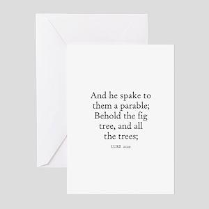 LUKE  21:29 Greeting Cards (Pk of 10)