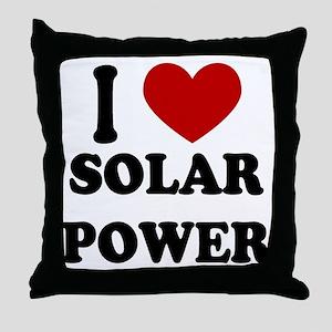 I Heart Solar Power Throw Pillow