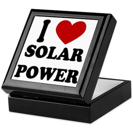 I Heart Solar Power Keepsake Box