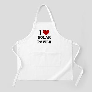 I Heart Solar Power BBQ Apron