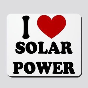 I Heart Solar Power Mousepad