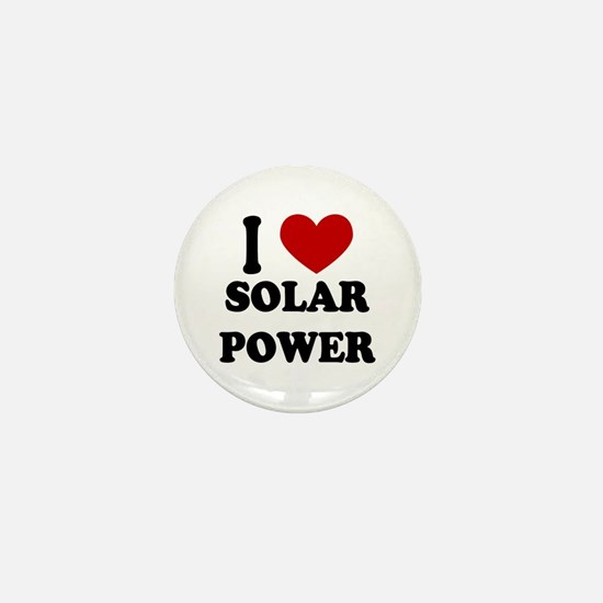 I Heart Solar Power Mini Button