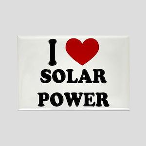 I Heart Solar Power Rectangle Magnet
