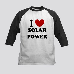 I Heart Solar Power Kids Baseball Jersey