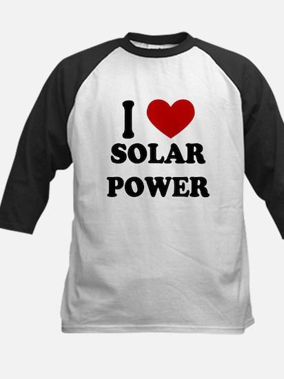 I Heart Solar Power Kids Baseball Jersey
