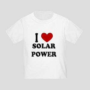 I Heart Solar Power Toddler T-Shirt