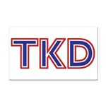 Taekwondo Tkd Rectangle Car Magnet