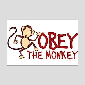 Obey The Monkey Mini Poster Print