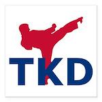 Taekwondo Square Car Magnet 3