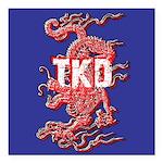 TKD Dragon Square Car Magnet 3