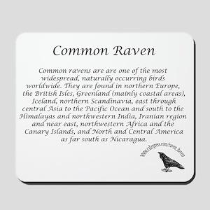 Common raven Mousepad