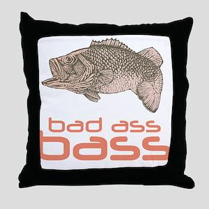 Bad Ass Bass Throw Pillow
