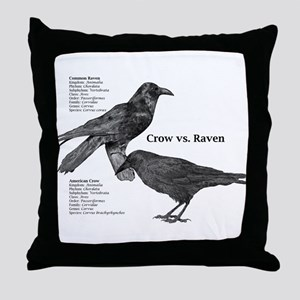 Crow vs. Raven -Throw Pillow
