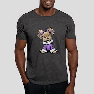 Purple Yorkie Cutie Dark T-Shirt