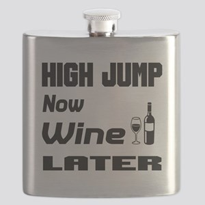 High Jump Now Wine Later Flask