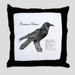 Common Raven - Throw Pillow