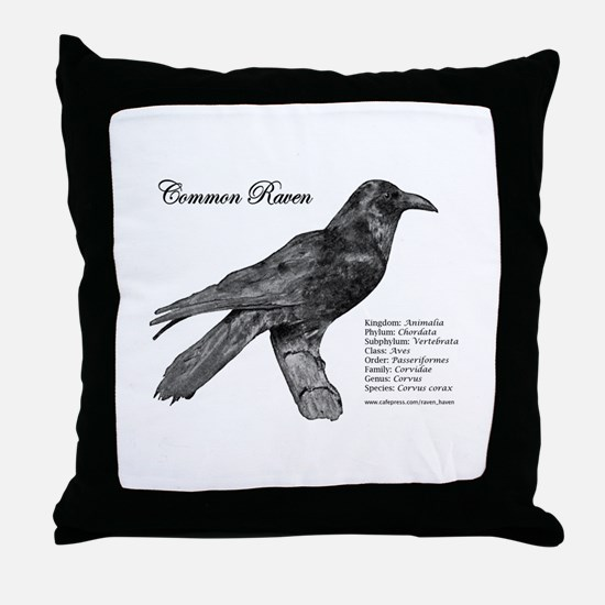 Common Raven - Throw Pillow