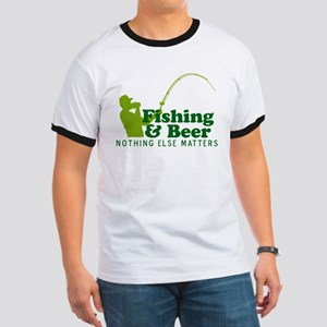 Fishing & Beer Ringer T