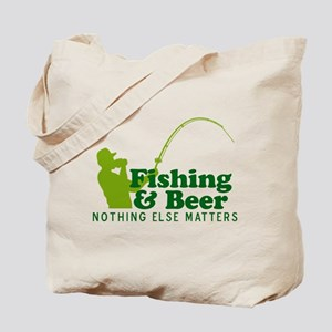 Fishing & Beer Tote Bag