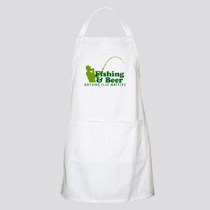 Fishing & Beer BBQ Apron