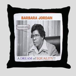 "Barbara Jordan "" You can do a Throw Pillow"