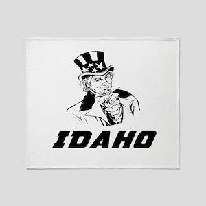 Idaho Designs Throw Blanket