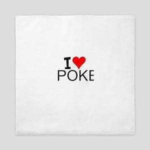 I Love Poker Queen Duvet