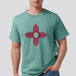 Red Zia NM State Flag Design T-Shirt
