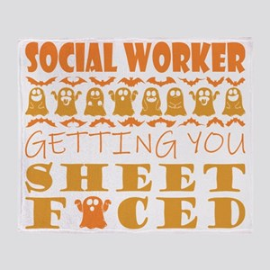 Social Worker Getting You Sheet Face Throw Blanket