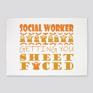 Social Worker Getting You Sheet Fac 5'x7'Area Rug