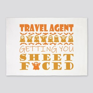 Travel Agent Getting You Sheet Face 5'x7'Area Rug