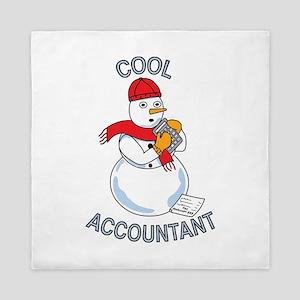 Cool Accountant Snowman Queen Duvet