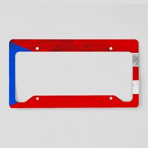 Puerto Rico flag 1g License Plate Holder