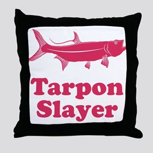 Tarpon Slayer Throw Pillow