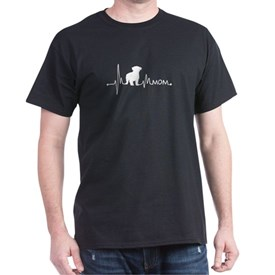 Heartbeat Pulse Line Maltese Mom Dog Lover T-Shirt