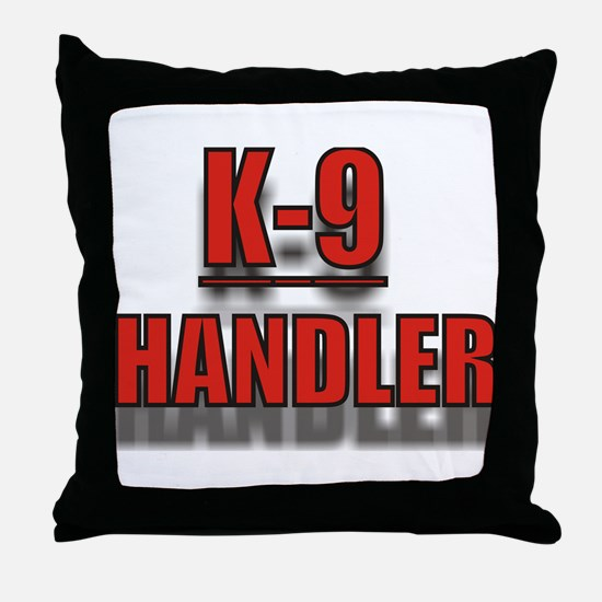 """K-9 HANDLER"" Throw Pillow"