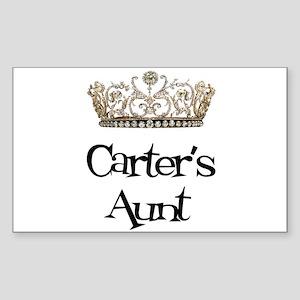 Carter's Aunt Rectangle Sticker