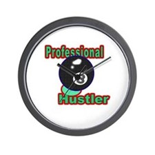 8 Ball Hustler Wall Clock