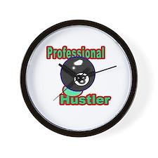 8 Ball Hustler Wall Clock