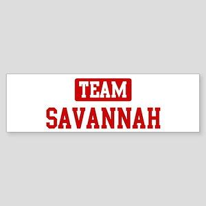 Team Savannah Bumper Sticker
