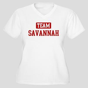 Team Savannah Women's Plus Size V-Neck T-Shirt