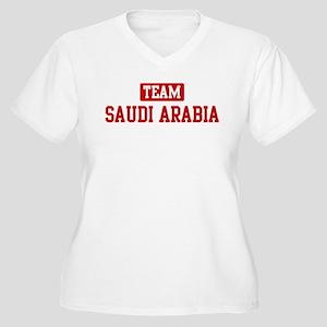 Team Saudi Arabia Women's Plus Size V-Neck T-Shirt