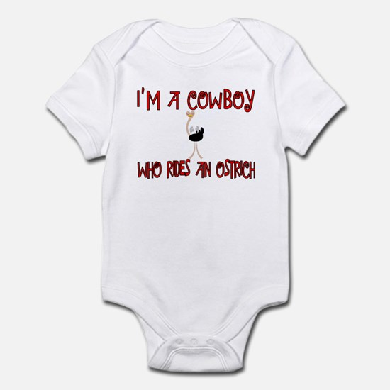 Cowboy Who Rides and Ostrich Infant Bodysuit