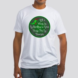 Tractor Parts Christmas Fitted T-Shirt