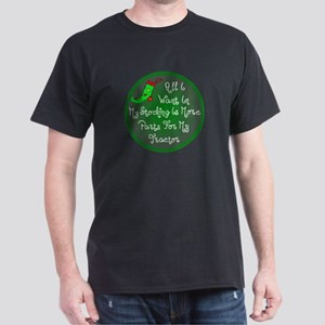 Tractor Parts Christmas Dark T-Shirt