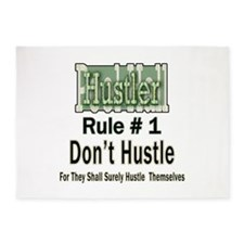 Best Pool Hall Hustler Rule 5'x7'Area Rug