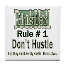Best Pool Hall Hustler Rule Tile Coaster