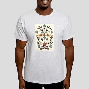 Pennsylvania Dutch Country Birds Design T-Shirt