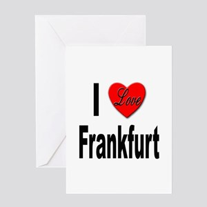I Love Frankfurt Germany Greeting Card