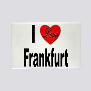 I Love Frankfurt Germany Rectangle Magnet